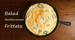 baked frittata with text
