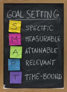 "Setting ""SMART"" goals will help your chances of success"