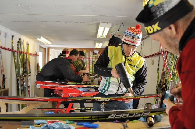 The teams behind the athletes at Ski Nationals is incredible. My team had incredible wax support from Craig Storey and Nic Clifford. Here Nakkertok impresses getting over 50 pairs of skis ready.