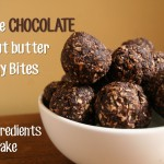 double chocolate energy bites bowl with text