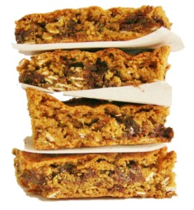 almond butter bars no backbround