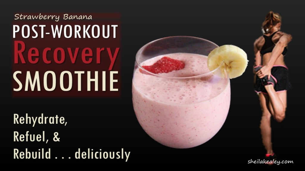 strawberry banana smoothie runner crop