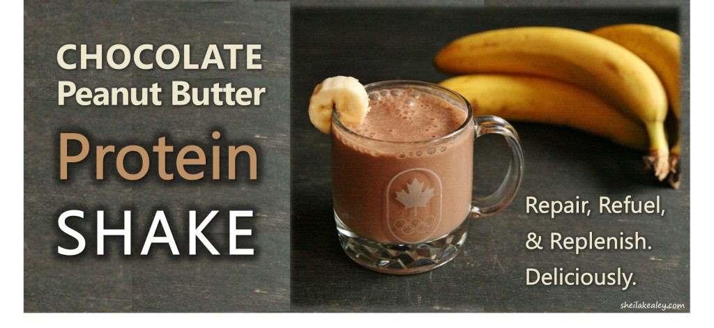 High Protein Chocolate Peanut Butter Shake