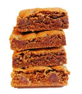 Ginger Bars With Chocolate Isolated