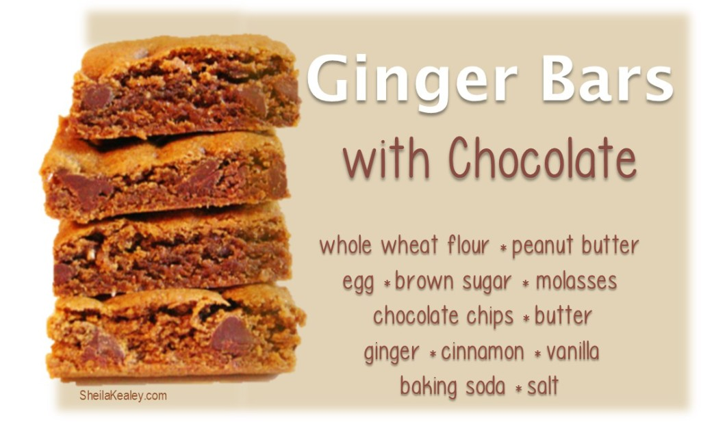 Ginger Bars With Chocolate Text