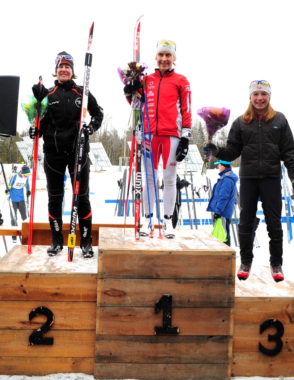25 km Craftsbury Podium. Jim Fredericks photo.