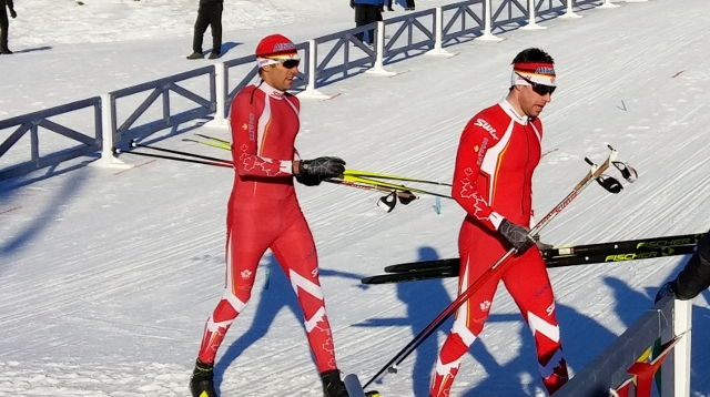 Lenny Valjas and Alex Harvey after sprint qualifier
