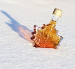 Maple Syrup In Snow Cropped