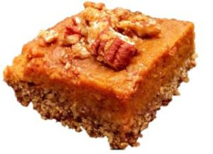 Isolated Pecan Pumpkin Bar Small