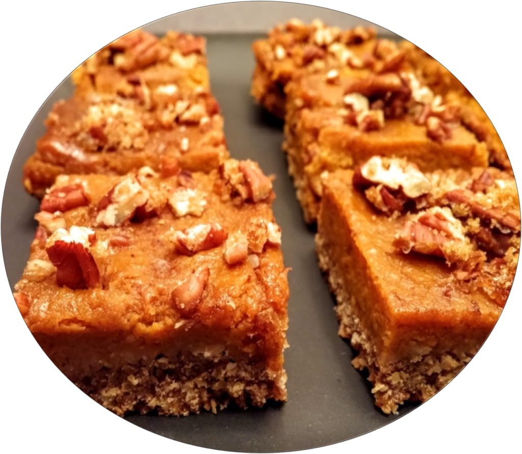 Pumpkin Pecan Bars Circle
