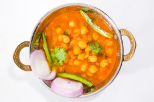 Typical North Indian spicy dish or cuisine called Chana Masala