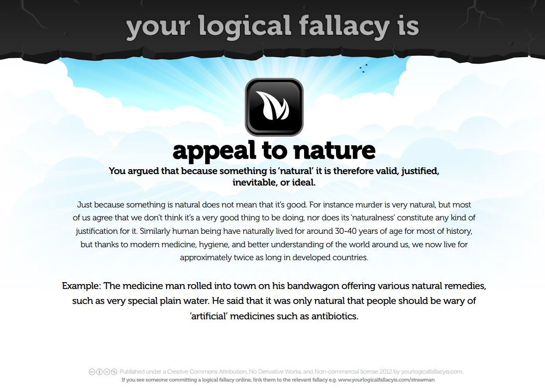 appeal to nature logical fallacy